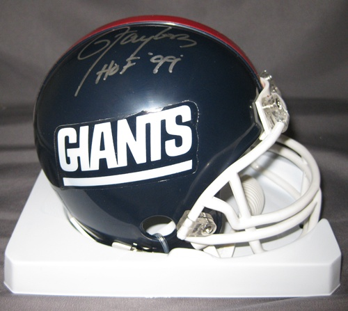 Lawrence Taylor New York Giants NFL Hand Signed Mini Football Helmet with HOF 99 Inscription