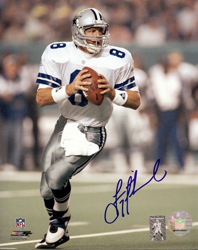 Troy Aikman Dallas Cowboys NFL Hand Signed 8x10 Photograph Super Bowl XXVIII #1