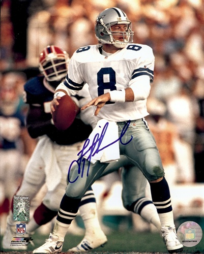 Troy Aikman Dallas Cowboys NFL Hand Signed 8x10 Photograph Super Bowl XXVIII #2