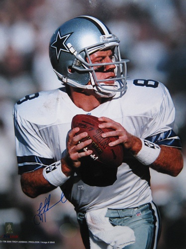 Troy Aikman Dallas Cowboys NFL Hand Signed 16x20 Photographs #2