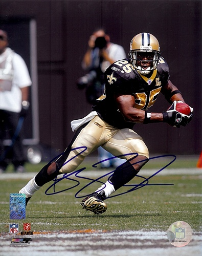 Reggie Bush New Orleans Saints NFL Hand Signed 8x10 Photograph Black Jersey