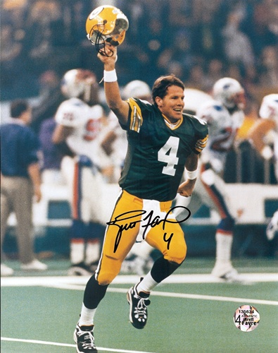 Brett Favre Green Bay Packers NFL Hand Signed 8x10 Photograph Super Bowl XXXI The Kid