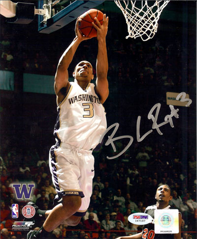 Brandon Roy Washington Huskies NCAA Hand Signed 8x10 Photograph
