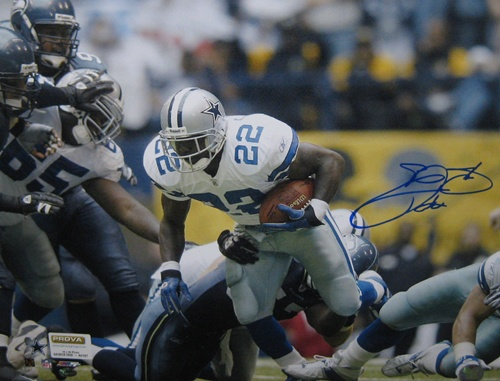 Emmitt Smith Dallas Cowboys NFL Hand Signed 16x20 Photograph Rushing Record