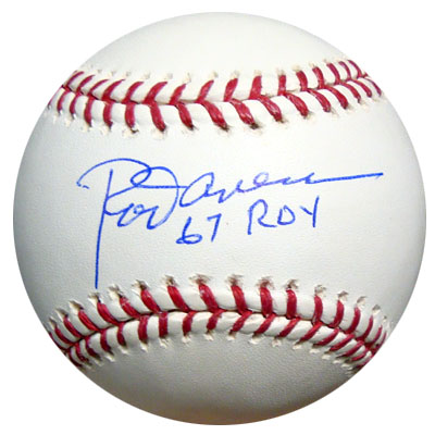 Rod Carew Anaheim Angels MLB Hand Signed Official MLB Baseball with 67 ROY Inscription