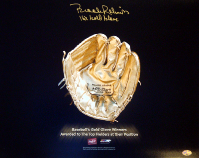 Brooks Robinson Baltimore Orioles MLB Hand Signed 16x20 Photograph Gold Glove Award with 16x GG Inscription