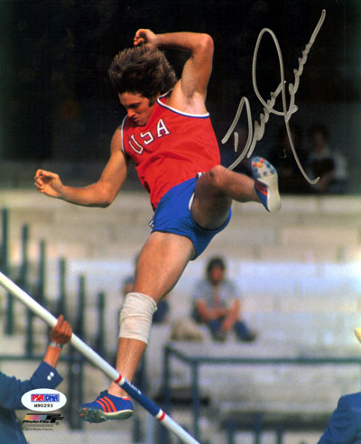 Bruce Jenner Olympics Hand Signed 8x10 Photograph Pole Vault