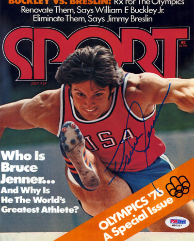 Bruce Jenner Olympics Hand Signed 16x20 Photograph Sport Magazine Cover
