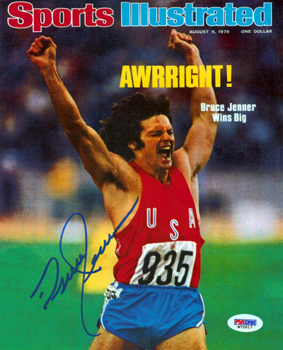 Bruce Jenner Olympics Hand Signed 16x20 Photograph Sports Illustrated Cover