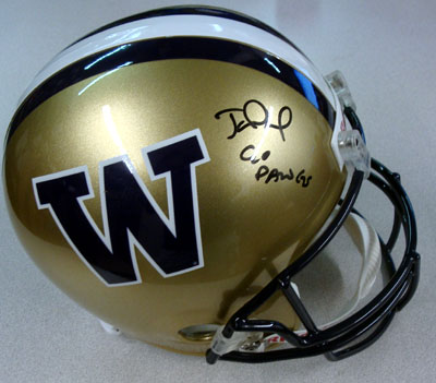 Jake Locker Washington Huskies NCAA Hand Signed Full Size Deluxe Helmet
