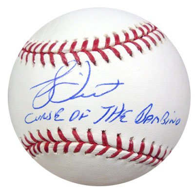 Bucky Dent New York Yankees MLB Hand Signed Official Baseball with Curse of the Bambino Inscription