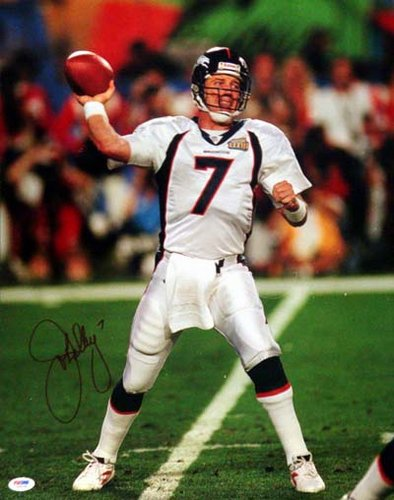 John Elway Denver Broncos NFL Hand Signed 16x20 Photograph Super Bowl Passing