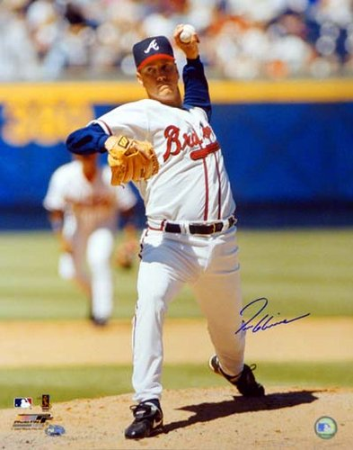 Tom Glavine Atlanta Braves MLB Hand Signed 16x20 Photograph White Jersey Vertical #2