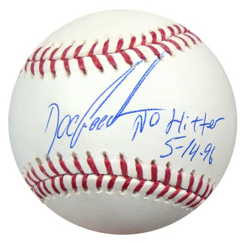 Dwight Gooden New York Yankees MLB Hand Signed Official Baseball No Hitter 5-14-96 Inscription