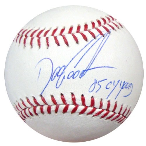 Dwight Gooden New York Mets MLB Hand Signed Official Baseball 85 NL CY Inscription