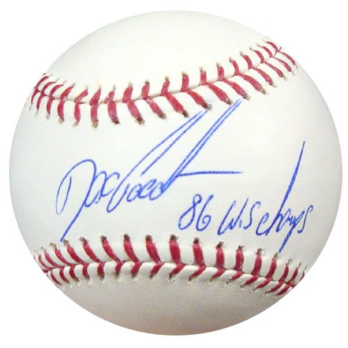 Dwight Gooden New York Mets MLB Hand Signed Official Baseball 86 WS Champs Inscription