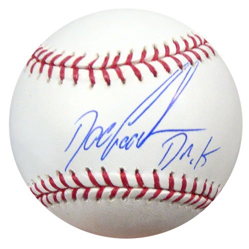 Dwight Gooden New York Mets MLB Hand Signed Official Baseball Dr K Inscription