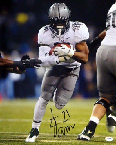 Lamichael James Oregon Ducks NCAA Hand Signed 16x20 Photograph Gray Jersey