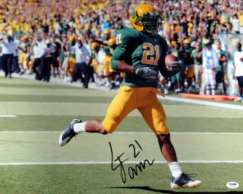 Lamichael James Oregon Ducks NCAA Hand Signed 16x20 Photograph Green Jersey