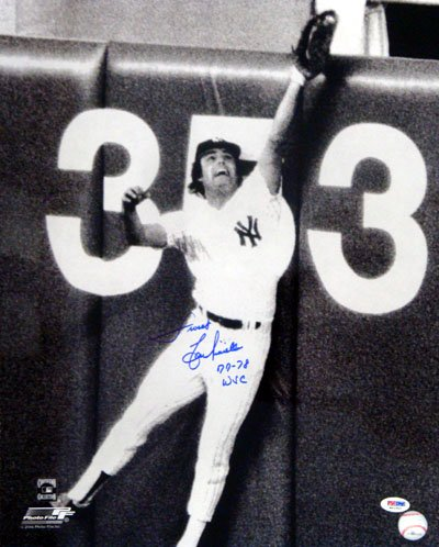 Lou Piniella New York Yankees MLB Hand Signed 16x20 Photograph Wall Catch