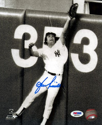 Lou Piniella New York Yankees MLB Hand Signed 8x10 Photograph Wall Catch
