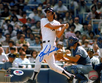 Lou Piniella New York Yankees MLB Hand Signed 8x10 Photograph Batting