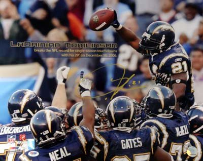 LaDainian Tomlinson San Diego Chargers NFL Hand Signed 16x20 Photograph #1