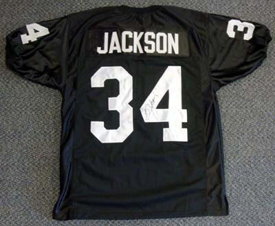 Bo Jackson Oakland Raiders NFL Hand Signed Authentic Black Home Jersey