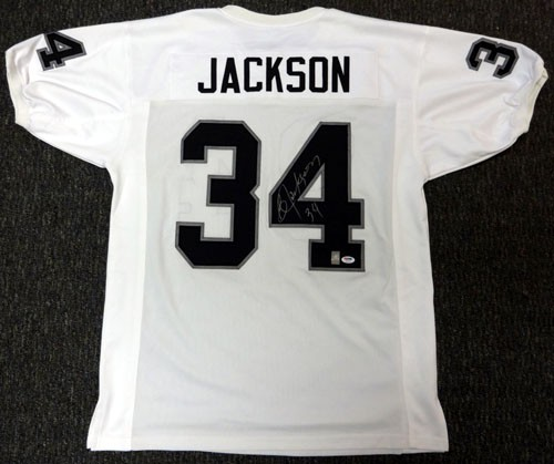 Bo Jackson Oakland Raiders NFL Hand Signed Authentic White Away Jersey