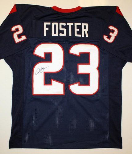 Arian Foster Houston Texans NFL Hand Signed Authentic Style Blue Jersey