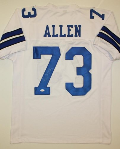 Larry Allen Dallas Cowboys NFL Hand Signed Authentic Style White Jersey