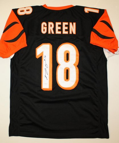 AJ Green Cincinnati Bengals NFL Hand Signed Authentic Style Black Jersey