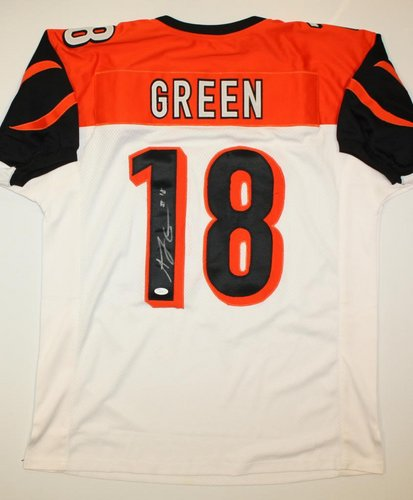 AJ Green Cincinnati Bengals NFL Hand Signed Authentic Style White Jersey