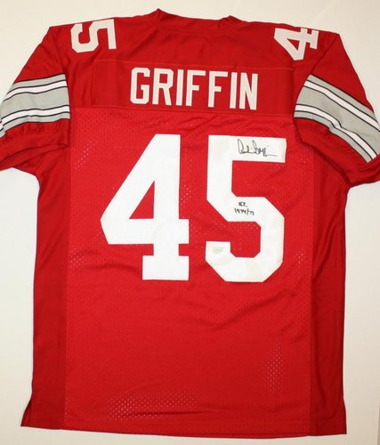 Archie Griffin Ohio State Buckeyes NCAA Hand Signed Authentic Style Red Jersey