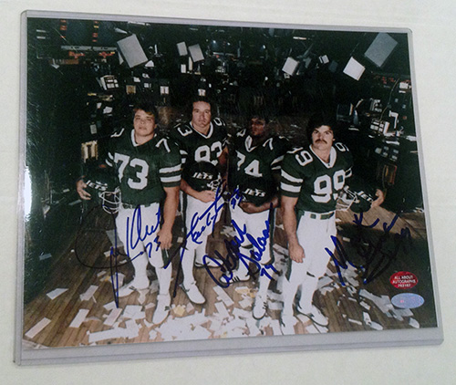 New York Sack Exchange New York Jets NFL Hand Signed 8x10 Photograph