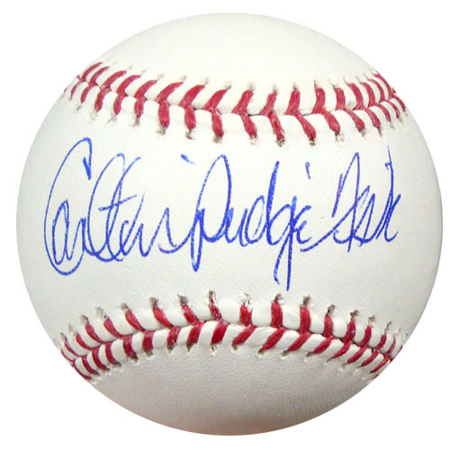 Carlton Fisk Boston Red Sox Hand Signed Rawlings MLB Baseball with Pudge inscription