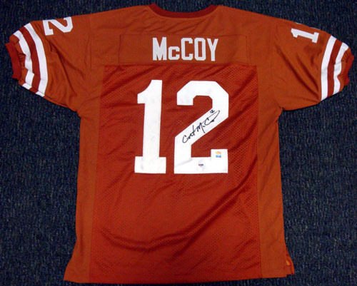 Colt McCoy Texas Longhorns NCAA Hand Signed Authentic Style Orange Jersey
