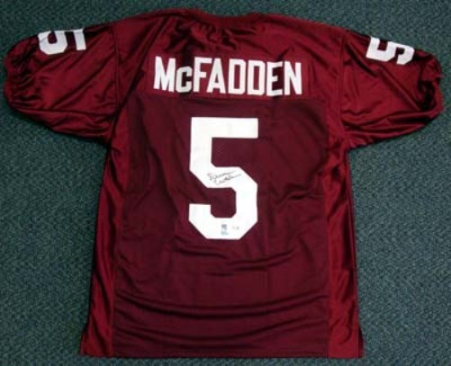 Darren McFadden Arkansas Razorbacks NCAA Hand Signed Authentic Style Maroon Jersey