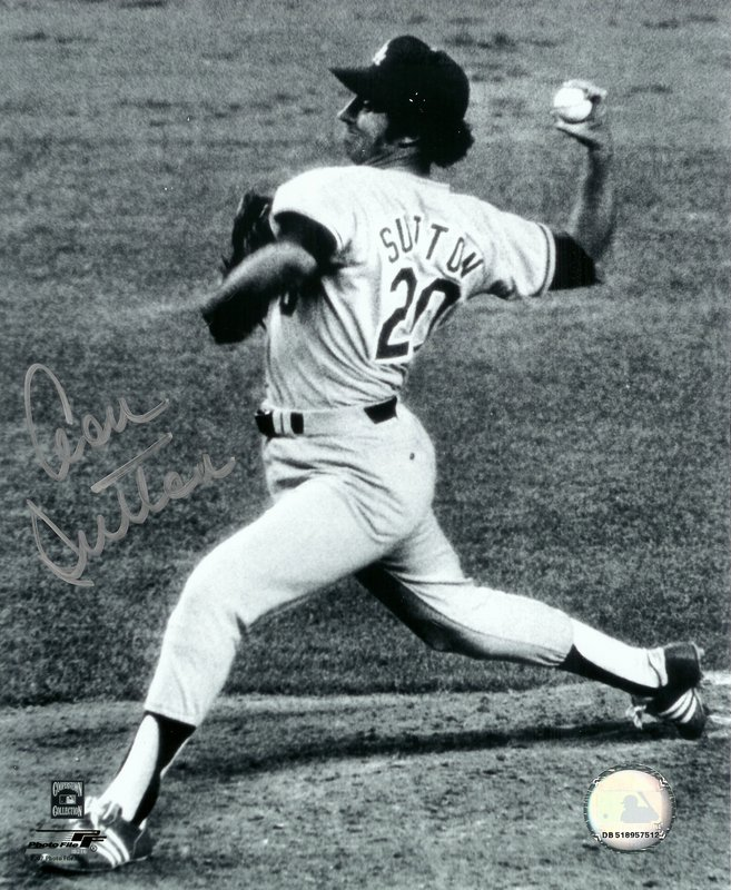 Don Sutton Los Angeles Dodgers MLB Hand Signed 16x20 Photograph B&W