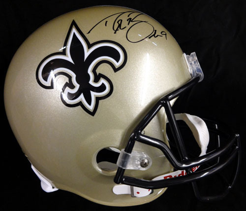 Drew Brees New Orleans Saints NFL Hand Signed Full Size Replica Helmet