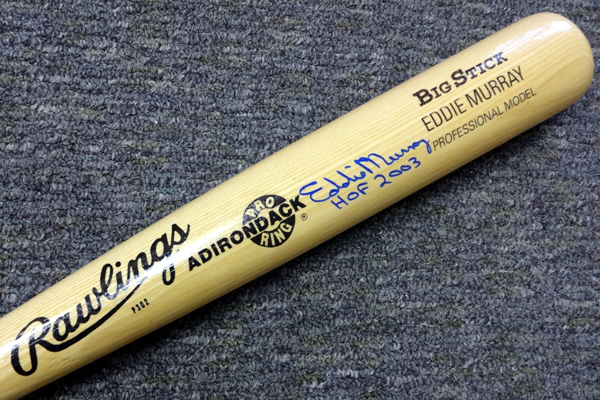 Eddie Murray Baltimore Orioles MLB Hand Signed Name Model Bat with HOF 2003 Inscription