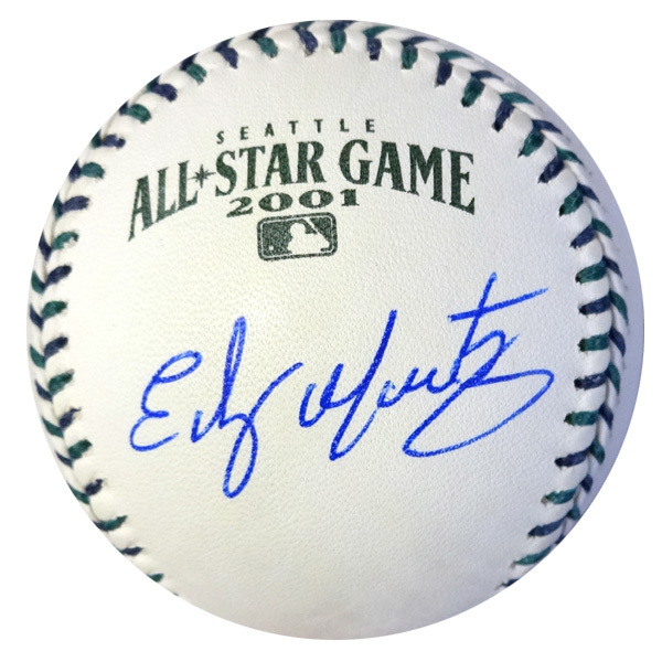 Edgar Martinez Seattle Mariners Hand Signed Rawlings 2001 MLB All-Star Baseball