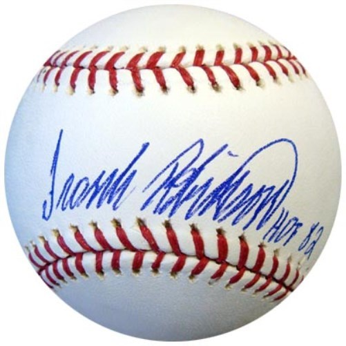 Frank Robinson Cincinnati Reds Hand Signed Rawlings MLB Baseball with HOF 82 Inscription