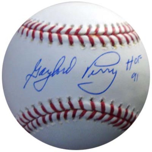 Gaylord Perry Seattle Mariners MLB Hand Signed Rawlings MLB Baseball with HOF 91 Inscription