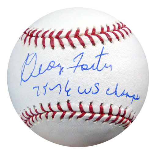 George Foster Cincinnati Reds Hand Signed Rawlings MLB Baseball with 75-76 WS Champs Inscription