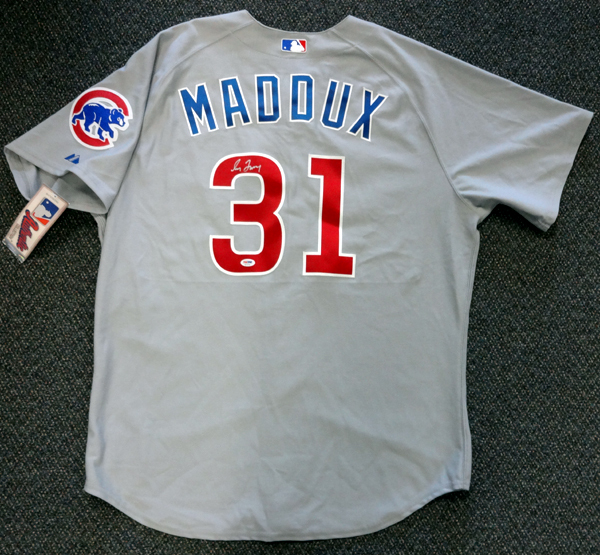 Greg Maddux Atlanta Braves MLB Hand Signed Majestic Gray Jersey