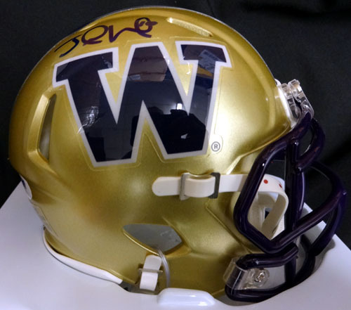 Jake Locker Washington Huskies NCAA Hand Signed Mini Helmet