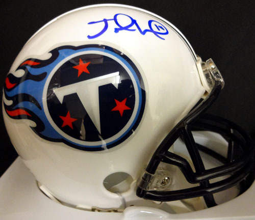 Jake Locker Tennessee Titans NFL Hand Signed Mini Helmet