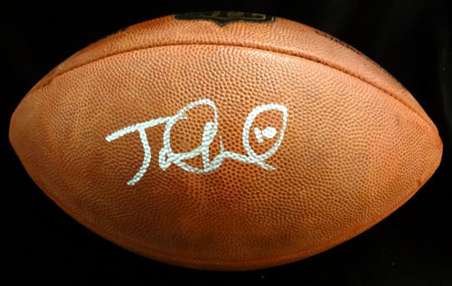 Jake Locker Tennessee Titans NFL Hand Signed Football
