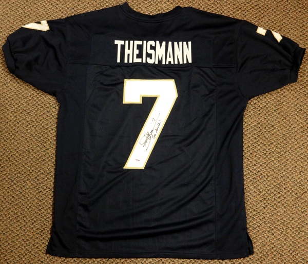 Joe Theismann Notre Dame Fighting Irish NCAA Authentic Style Blue Jersey